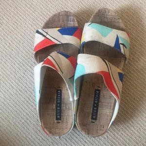 Alice and Olivia slide on sandals size 8